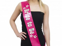Bride to be sash hen accessories